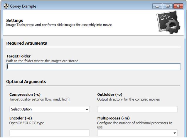 Gooey: Python framework to turn command line programs into GUI