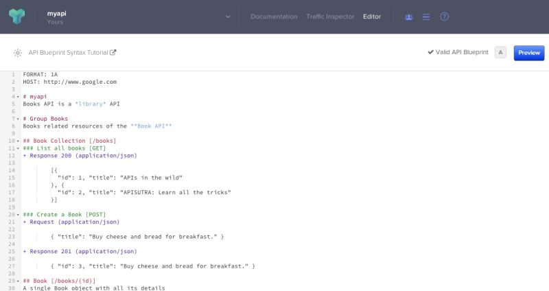 Documentation braveterry api blueprint api editor screenshot malvernweather Choice Image