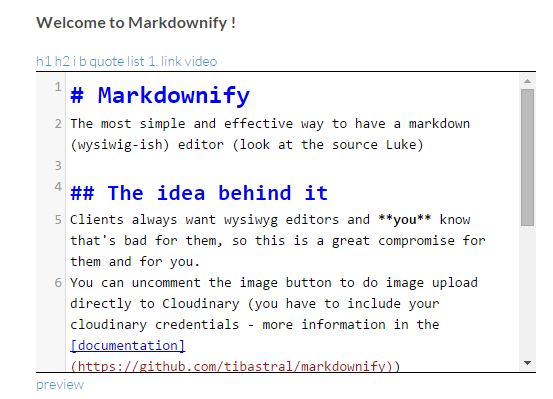 Markdownify Screenshot