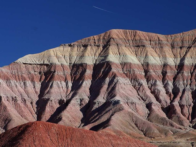 Stock Photo of sedimentary rock layers