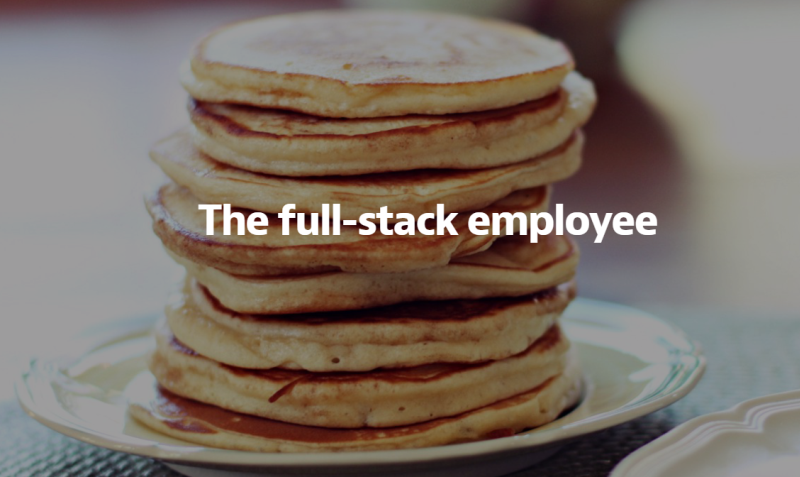 Screenshot of blog post title over an image of a stack of pancakes