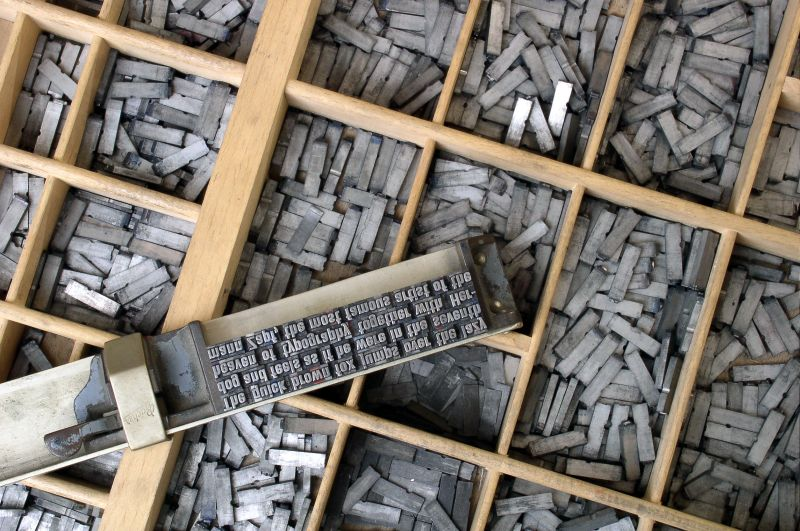 Stock Photo of lots of moveable type from wikipedia typesetting article