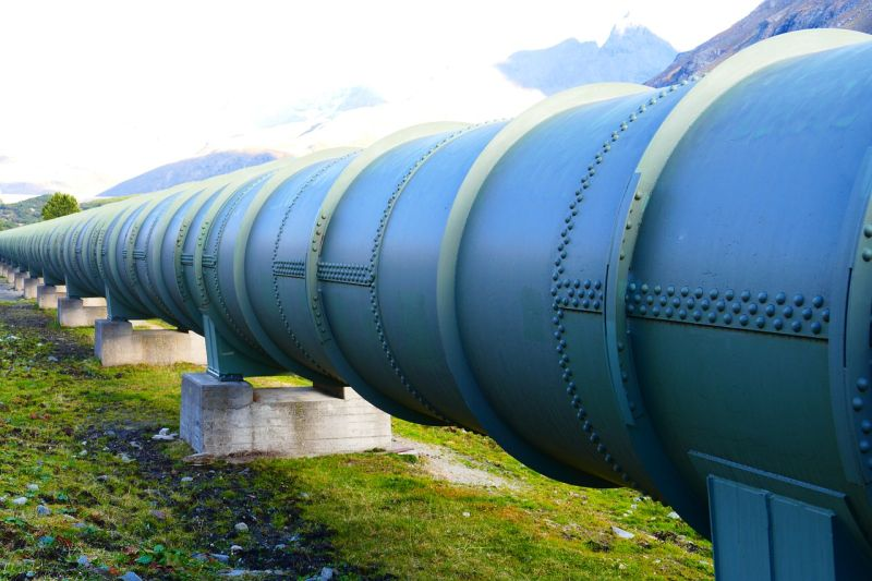 Stock image of a water pipeline