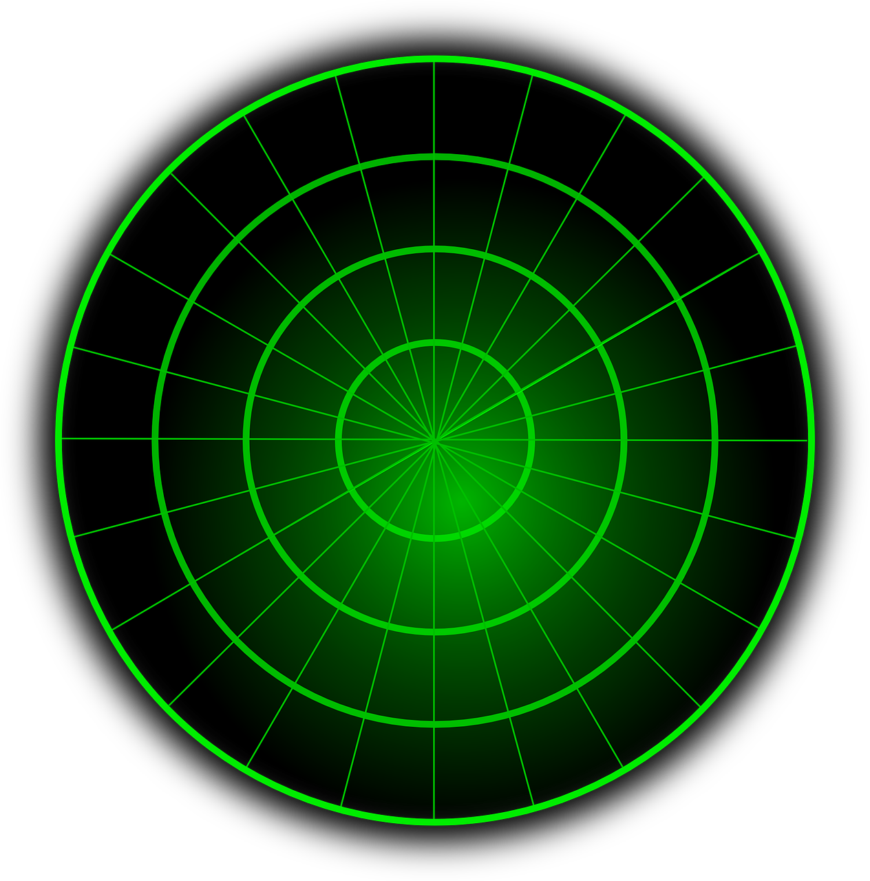 Image of a radar display