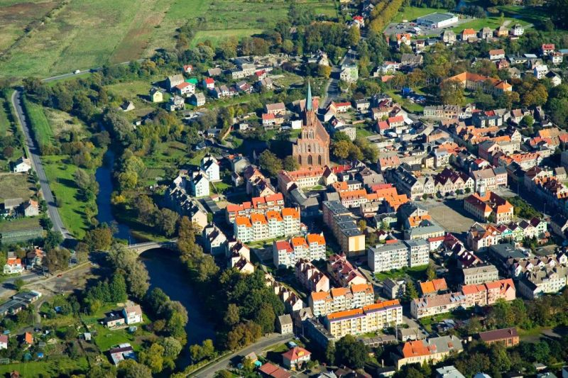 Photo or a bird's eye view of Trzebiatow's Old Town