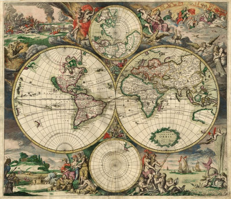 Image of an old world map