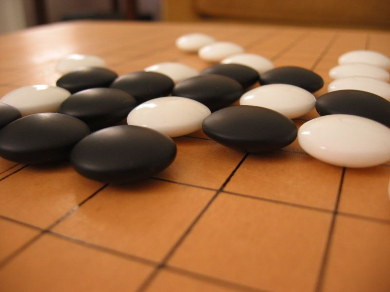 Stock photo of Go game board