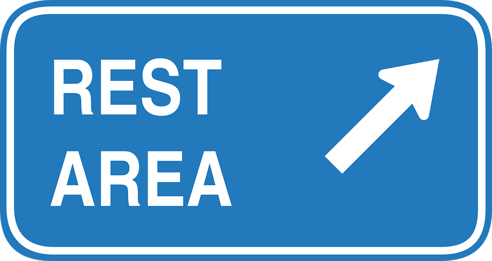 Rest Area Sign stock image