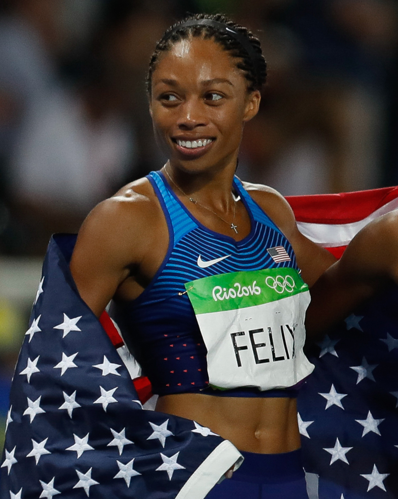 Photo of Allyson Felix at the Rio Olympics