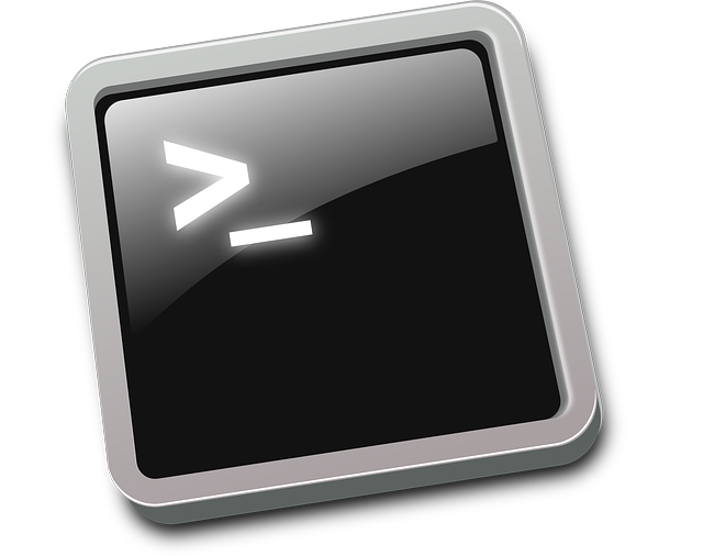 Clip Art of stylized command line prompt