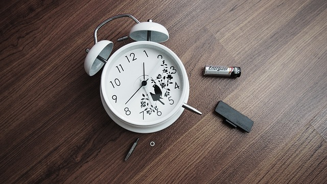 Stock Photo of damaged clock